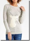 Oasis embellished stag jumper