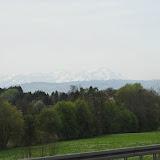 Alperne i baggrunden