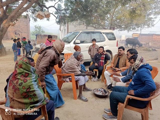 सपाजनों ने किसान बिल के विरोध में किया जनसम्पर्क