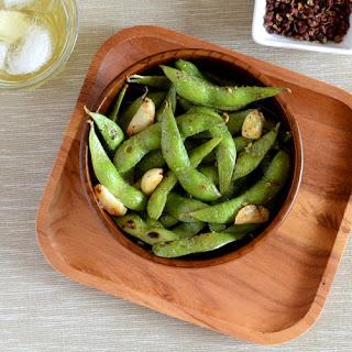 Garlic Edamame with Sichuan Pepper