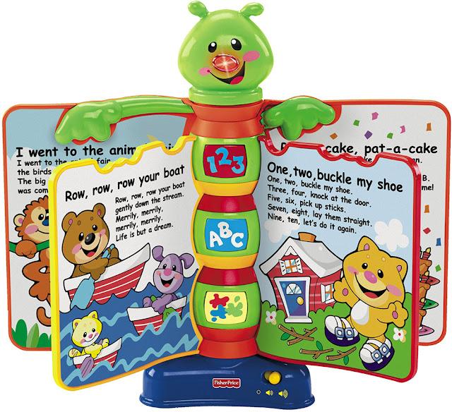 Quyển sách âm nhạc Fisher-Price Storybook Rhymes là món đồ chơi thông minh