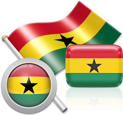 Ghanaian flag icons pictures collection