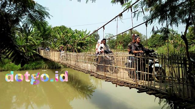Jembatan gantung desa muara tanjungtiga blanaka suban video