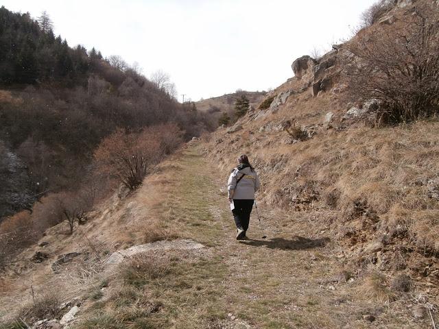 La antigua via romana, que nos lleva a La Cabanasse