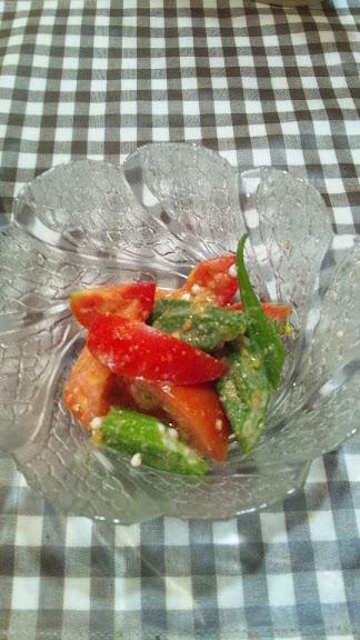 オクラとトマトのナムル