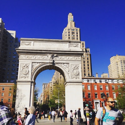 the arch of Washington Square Park in Greenwich Village, Manhattan, New York City