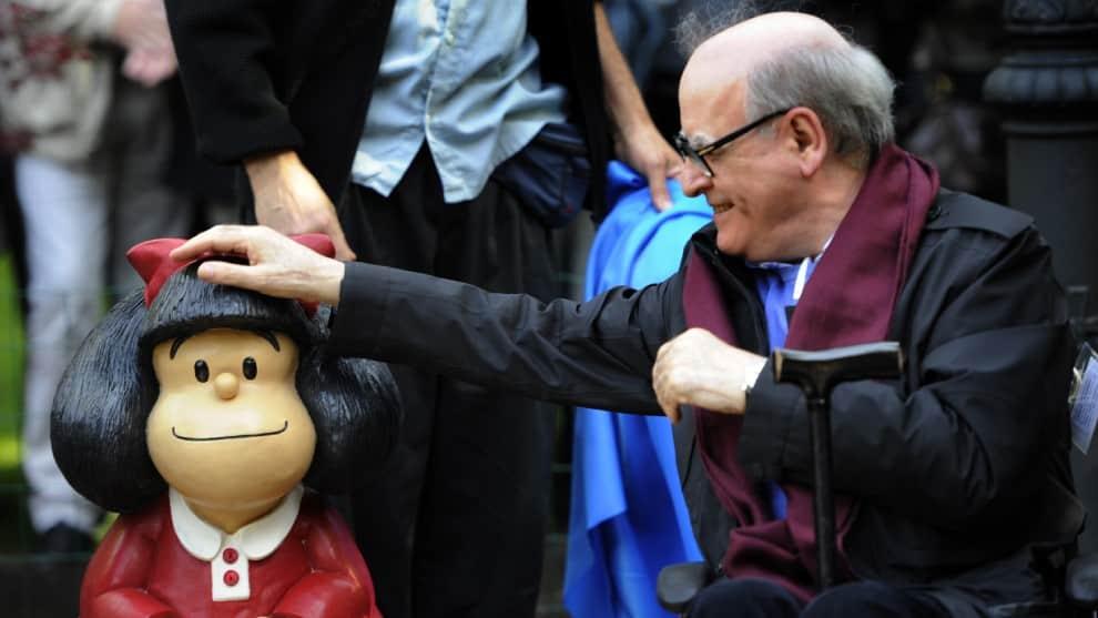 ¡Luto mundial! Murió a sus 88 años Quino, el padre de la icónica Mafalda