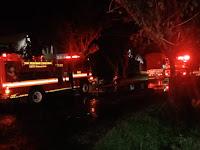 Terjadi Kebakaran Di Kawasan Industri Makassar, Gudang Spring Bed Ludes Terbakar.