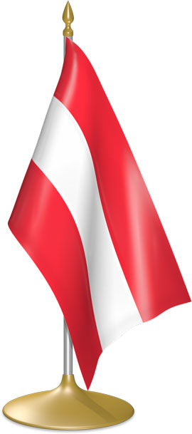Austrian table flags - desk flags