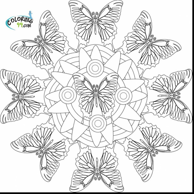 Wonderful Printable Butterfly Mandala Coloring Pages With Free Printable Mandala  Coloring Pages And Free Printable Christmas