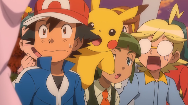 ash and clemont react