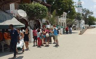 UK tourists in Lamu streets. PHOTO | BMS