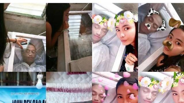 Foto Selfie Bersama Mayat Pacarnya, Wanita ini diserang Netizen