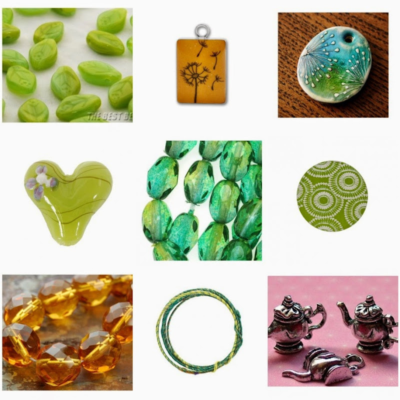 Dandelions and Honey Bead Mood Board