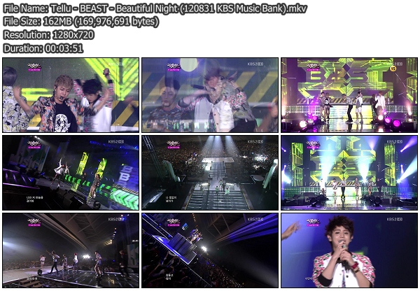[Perf] BEAST   Beautiful Night @ KBS Music Bank 120831