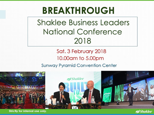 Business LEader National Conference Shaklee 2018, Event Untuk leader shaklee, BLNC shaklee 2018, Testimoni Youth Skincare Shaklee orang Malaysia