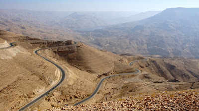 The mostly dry and arid landscape in Jordan