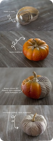 fabric tape pumpkins