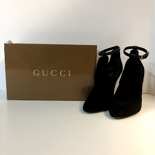 Gucci Suede Cutout Booties
