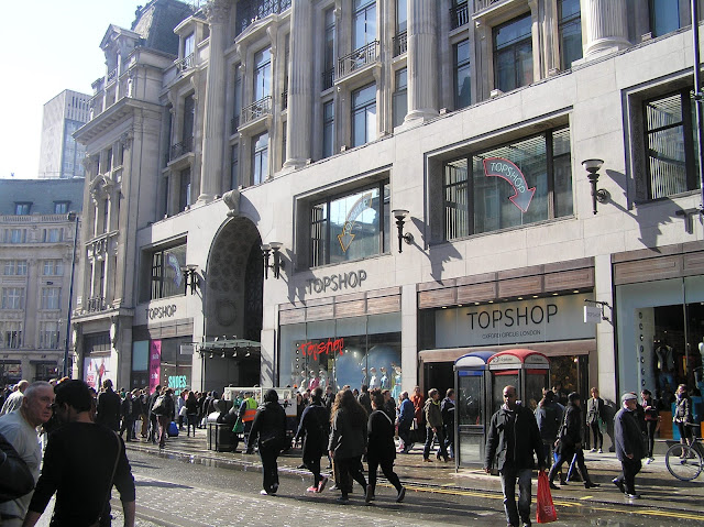Topshop - from shopping in London - a study abroad guide