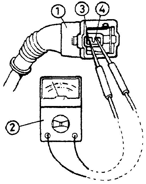 Проверка напряжения питания на вакуумном клапане системы стабилизации