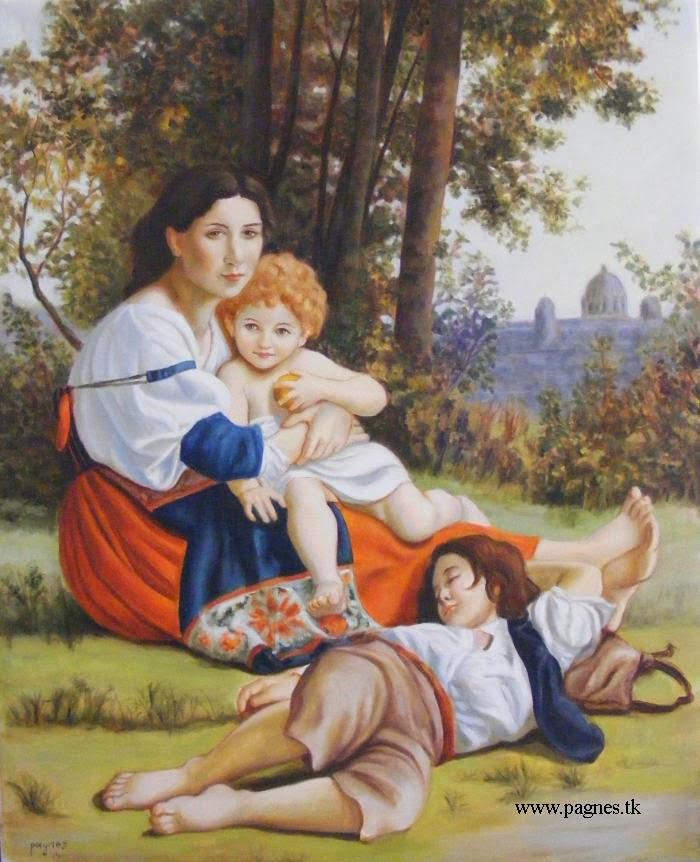 mamma coi figli - copia Bouguereau