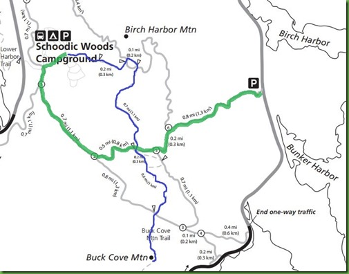 Schoodic Woods Trails Map