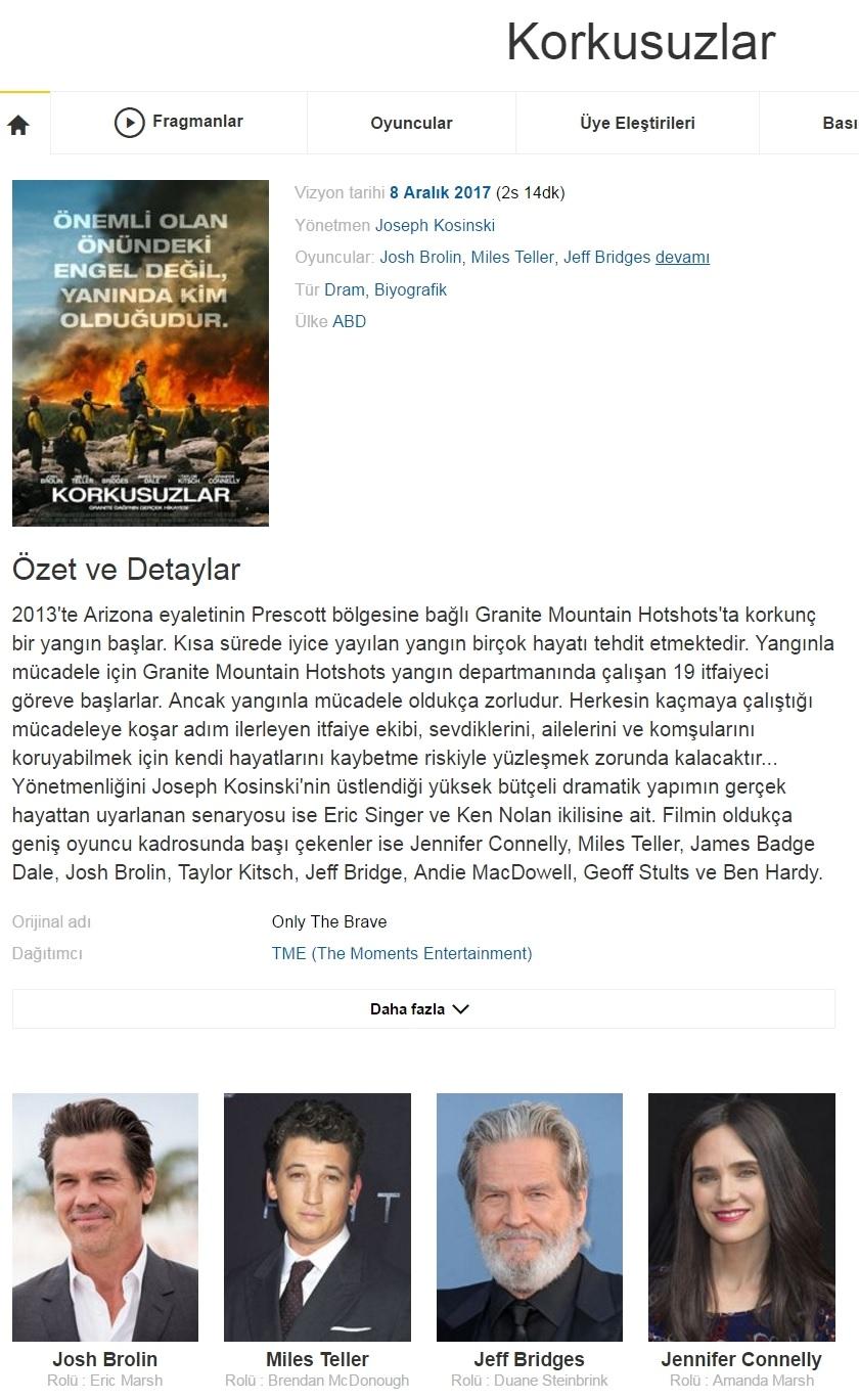 Korkusuzlar 2017 - 1080p 720p 480p - Türkçe Dublaj Tek Link indir