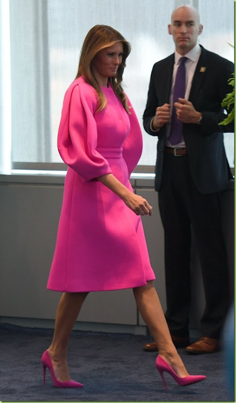Melania-Trump-Wearing-Pink-Delpozo-Dress