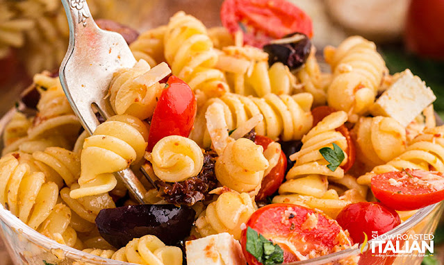 Forkful of Pasta Salad