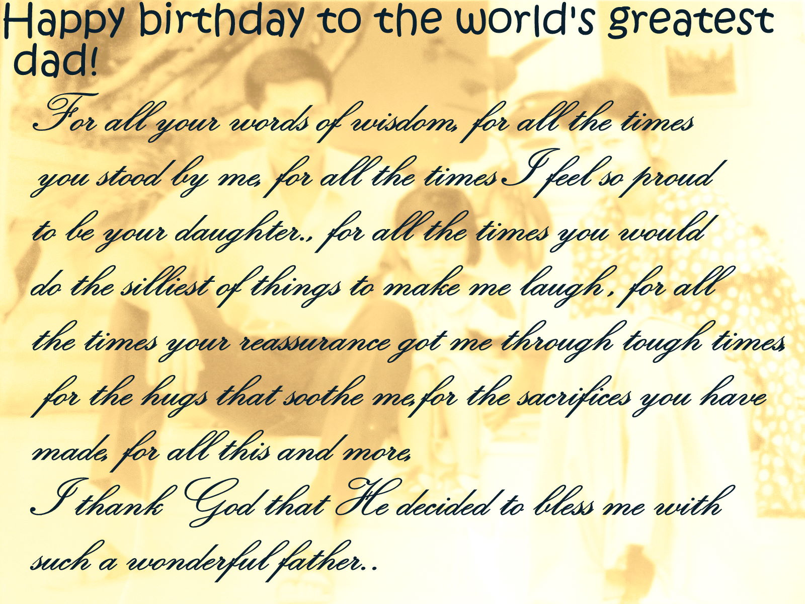 Birthday wishes for dad can i do but wish him a wonderful birthday and hope he always has reasons to smile memories to cherish happy birthday pa birthday wishes for dad m4hsunfo