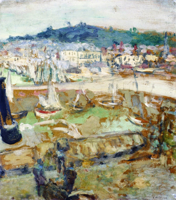Édouard Vuillard - The Small Harbor, Honfleur