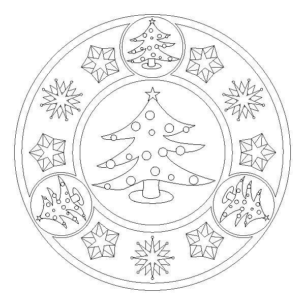 Mandalas De Navidad Para Pintar