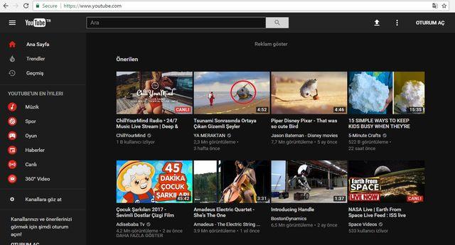 Youtube'un Web Tasarımı Değişti