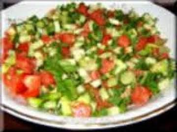 Turkish style sheperd salad