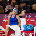 Kristina Mladenovic receiving threatment
