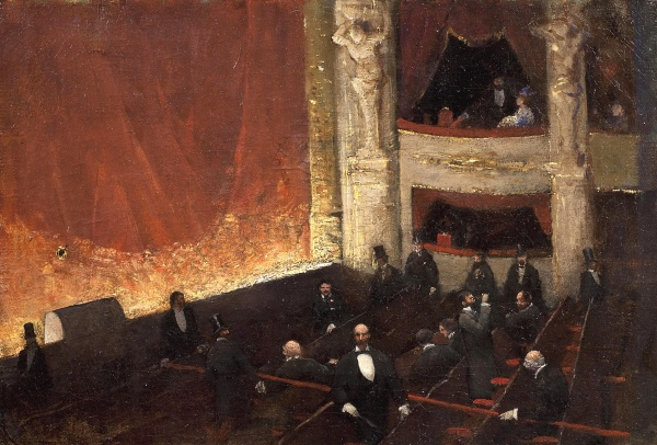 Édouard Joseph Dantan - Interval at the Comédie Française, 1885