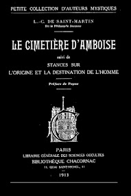 Cover of Louis Claude De Saint Martin's Book Le Cimetiere D'Amboise (Preface de Papus,1913,in French)