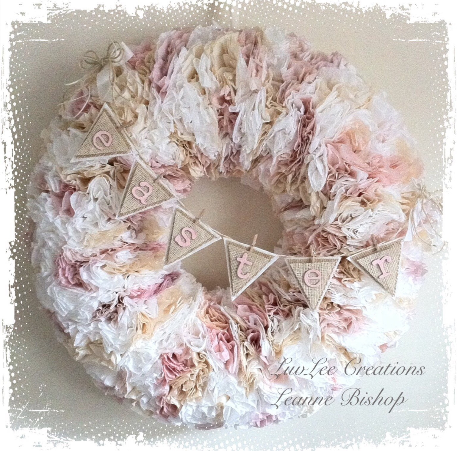 ... Imaginings & Silly Things: Pretty Valentine's Coffee Filter Wreath