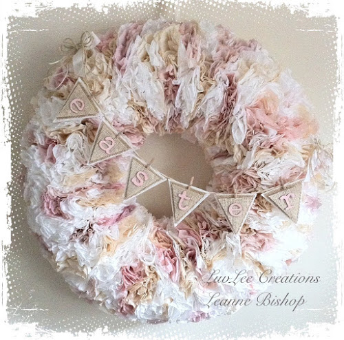 LuvLee Creations Coffee Filter Wreath