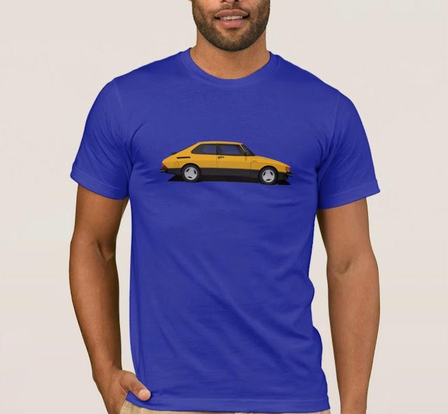 Saab 900 turbo t-shirts - yellow Saab
