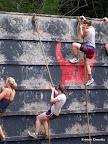 Pink Warrior, climbing up that big ass wall. Rwar!!