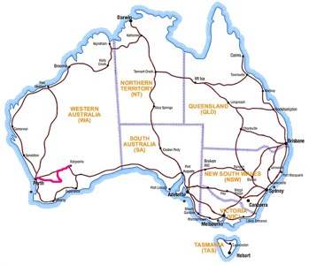 Route to Kalgoorlie