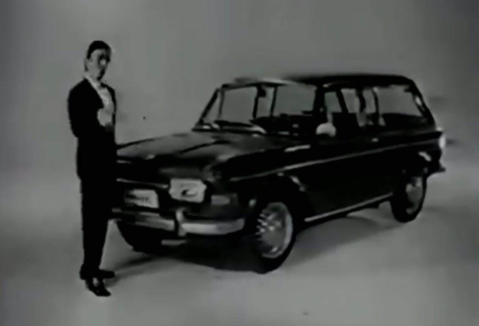 Propaganda antiga da Volkswagen lançando a Variant com motor 1600