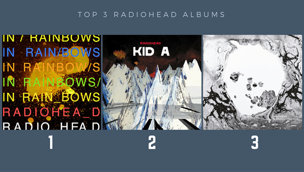 Top 3 Radiohead Albums: In Rainbows, Kid A and A Moon Shaped Pool