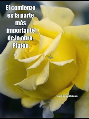 El comienzo es la parte más importante de la obra.  Platón