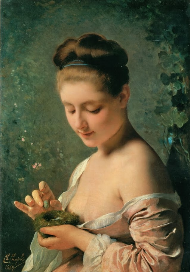 Charles Joshua Chaplin - Girl with a Nest