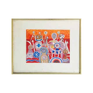 Martin Rosenthal Signed 'Heraldic Forms' Painting
