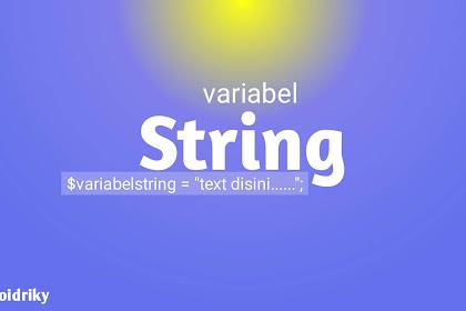 pengertian variabel string pada php