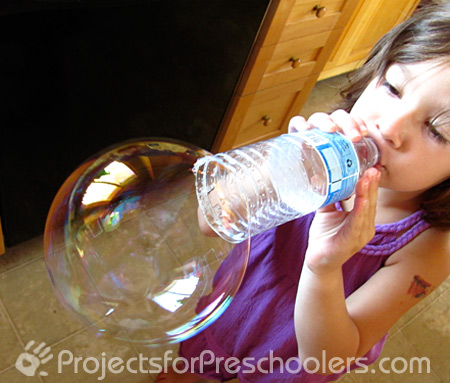 Water Bottle Blowing Projects for Preschoolers